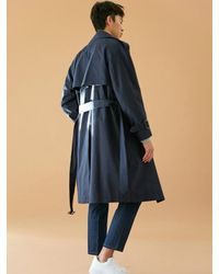 BONNIE&BLANCHE - Blue [unisex] Windy Trench Coat Navy for Men - Lyst