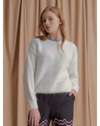 NU PARCC - White High Angora Knit_wh - Lyst