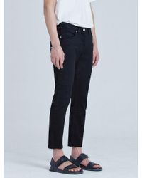 VOIEBIT | Blue V106 Double Cutting Crop Jeans_black for Men | Lyst