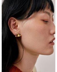 Low Classic - Metallic 17fw Earlobe Earring - Gold - Lyst
