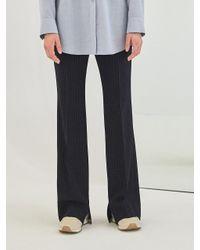 COLLABOTORY - Blue Baama6005m Navy Pin Stripe Slit Bell Pants - Lyst