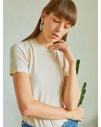 PLOT - Natural Turtleneck Classic Summer Knit 3 Colors - Lyst