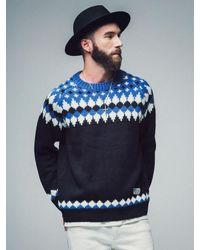 SAINTPAIN [unisex]sp Toms Nordic Kint Sweater Black for men