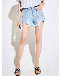 YAN13 - Blue Coolish Short Pants_denim - Lyst