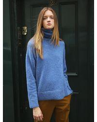 AVA MOLLI - Luige Alpaca Pull Over Knitwear Blue - Lyst