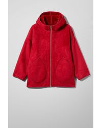 Weekday - Red Reverse Jacket - Lyst