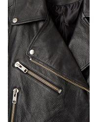 Weekday - Black Jemina Leather Jacket - Lyst