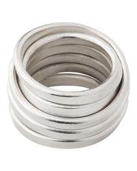 Whistles - Metallic Made Shiny Birds Nest Ring - Lyst