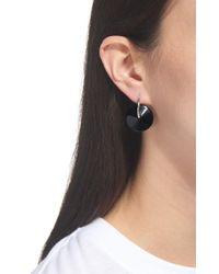 Whistles Black Resin Wire Loop Earring