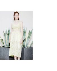 Whistles - Yellow Jasmino Bonded Lace Skirt - Lyst