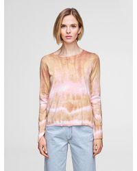 White + Warren - Multicolor Lightweight Cotton Shibori Print Crewneck - Lyst