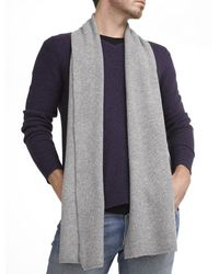 White + Warren   Gray Mens Cashmere Thermal Scarf for Men   Lyst