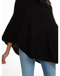 White + Warren | Black Cashmere Two Way Angled Topper | Lyst
