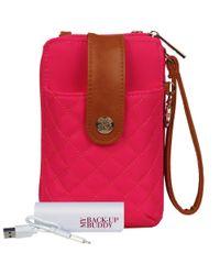 Wilsons Leather - Pink Ready Set Go Crossbody Nylon Wallet - Lyst