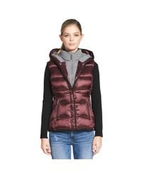 Wilsons Leather - Purple Web Buster Performance Hooded Puffy Vest W/ Knit Inset - Lyst