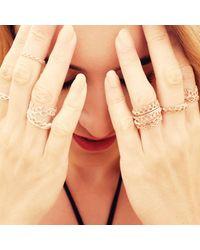 Annabelle Lucilla Jewellery - Metallic Dainty Stella Crown Ring Rose Gold - Lyst