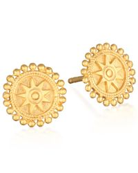 Satya Jewelry | Metallic Gold Mandala Stud Earrings | Lyst
