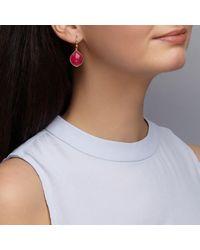 Dione London - Red Celeste Ruby Tear Drop Earrings - Lyst