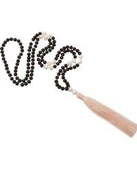 JIYA - Black Freshwater Pearl Mala Necklace - Lyst