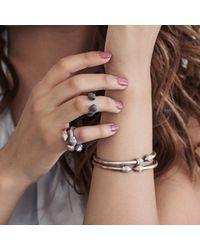 Durrah Jewellery | Metallic Cylinder Bangle | Lyst