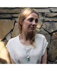 KAMENA JEWELLERY - Metallic Hewed Big Necklace With Chrysporase Brass - Lyst