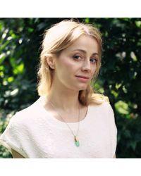 KAMENA JEWELLERY - Metallic Hewed Medium Necklace With Chrysoprase Brass - Lyst