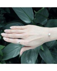 KAMENA JEWELLERY - Metallic Stones Bracelet Silver Mat - Lyst