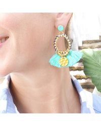 Clare Hynes Jewellery - Martha Earrings Turquoise & Blue - Lyst