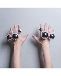 CIVILIAN LONDON - Metallic Medium Orb Ring - Lyst