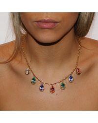 Alexander Quin London - Multicolor Antique Style Georgian Rock Crystal Necklace - Lyst