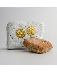 PASCALE x JAMES LONDON - Metallic Orogenesis Mini Moon Earrings Gold - Lyst
