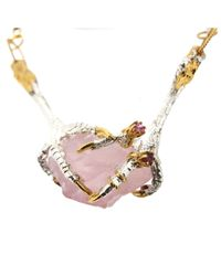 Tessa Metcalfe - Pink Rose Quartz Necklace With Ruby - Lyst