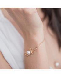 Joana Salazar - Metallic Spike Pearl Bracelet - Lyst