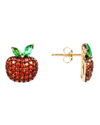 Latelita London   The Forbidden Apple Earring Red   Lyst