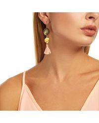 Ottoman Hands - Multicolor Labradorite And Pink Tassel Earrings - Lyst