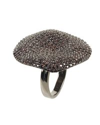 Latelita London | Black Alessandra Cocktail Ring Oxidised Chocolate Cz | Lyst