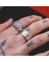 Serge Denimes - Metallic Spiked Crown Ring for Men - Lyst