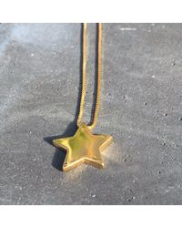 Vicky Davies Jewellery - Metallic Star Pendant In Gold - Lyst
