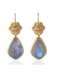 Emma Chapman Jewels - White Adila Moonstone Drop Earrings - Lyst