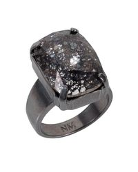 Nadia Minkoff | Black Patina Oblong Stone Ring | Lyst
