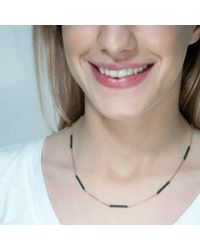 Tada & Toy - Black Sky Atlas Necklace Rose Gold & Rhodium - Lyst