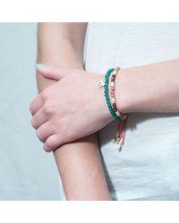 Tada & Toy - Pink Congo Stone Bracelet - Lyst