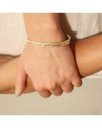Tada & Toy - Metallic Spiny Lizard Chain Bracelet Gold - Lyst