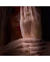 Myriamsos - Metallic The Triangle Ring - Lyst