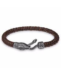 Platadepalo - Brown Animalia Crocodile Style Bracelet for Men - Lyst