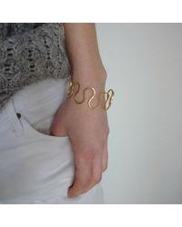Dorota Todd - Metallic Loop Bangle - Lyst