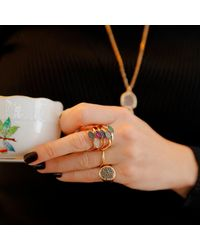 Sadekar Jewellery - Multicolor Shuttle Ring Brown - Lyst