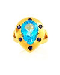 Alexandra Alberta   Blue Eos Ring   Lyst
