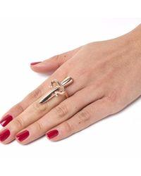 Leivan Kash - Pink Dagger Ring Rose - Lyst