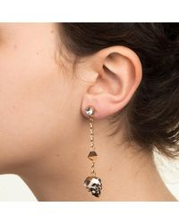 Nadia Minkoff - Metallic Skull & Spike Earrings Rose Gold - Lyst